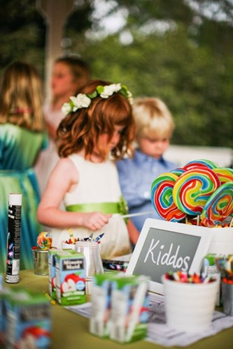 Activities for children at weddings