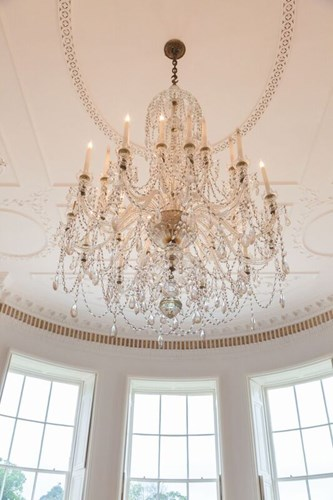 Chandelier in the Dining Room at Rockbeare Manor