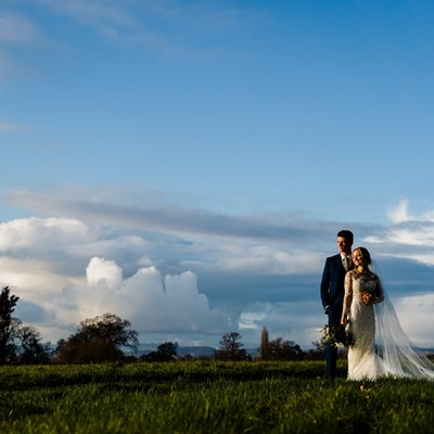 Emily and Will's Winter Wonderland Wedding at Rockbeare Manor