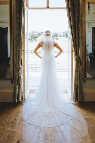 Bride Dressed in the Drawing Room